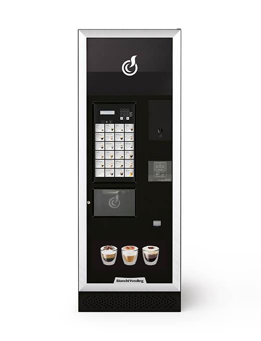 Výkonný a zároveň veľmi elegantný automat v čiernom prevedení s hliníkovými bočnými lištami.